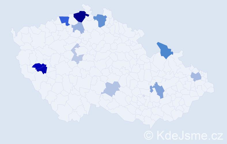 Příjmení: 'Bacová', počet výskytů 30 v celé ČR