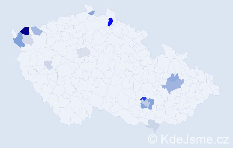 Příjmení: 'Heinl', počet výskytů 44 v celé ČR