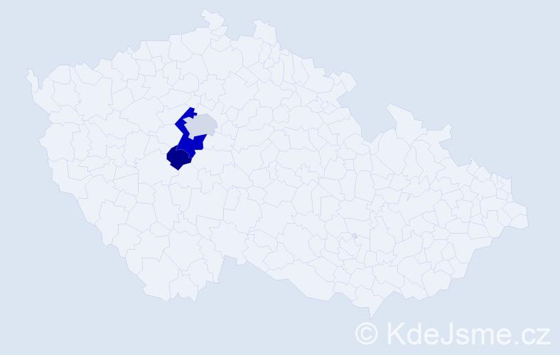 Příjmení: 'Koredová', počet výskytů 7 v celé ČR