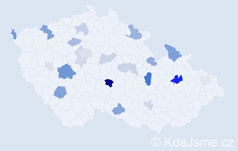 Příjmení: 'Anderson', počet výskytů 39 v celé ČR