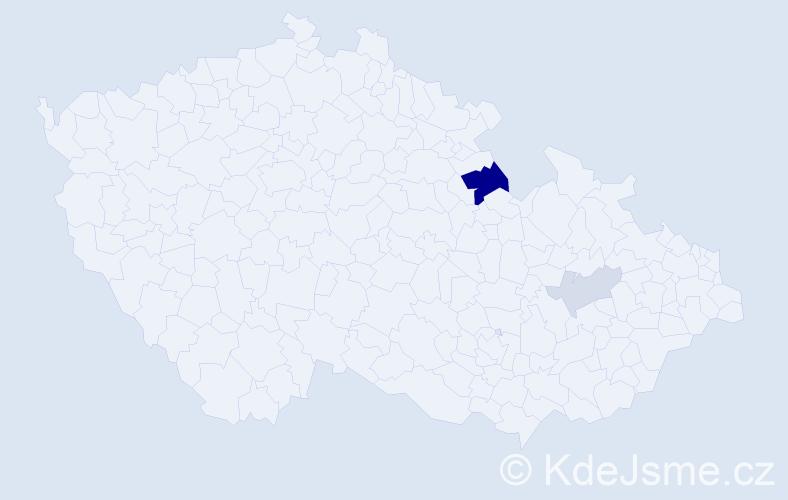 Příjmení: 'Krystufová', počet výskytů 6 v celé ČR
