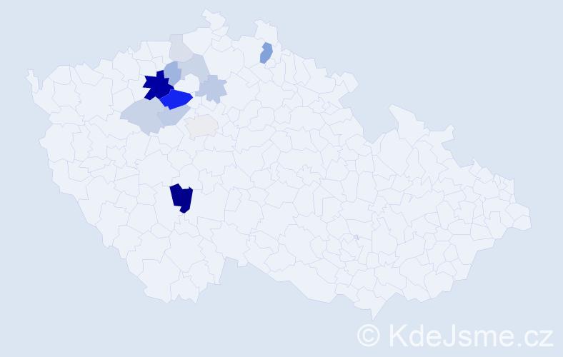 Příjmení: 'Imbrová', počet výskytů 31 v celé ČR