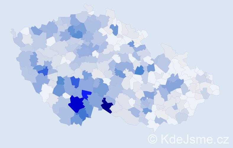 Příjmení: 'Kubeš', počet výskytů 1834 v celé ČR