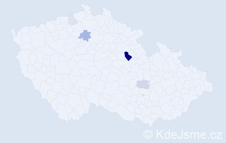 Příjmení: 'Centner', počet výskytů 18 v celé ČR